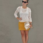 Meu Look: Yellow & Cream
