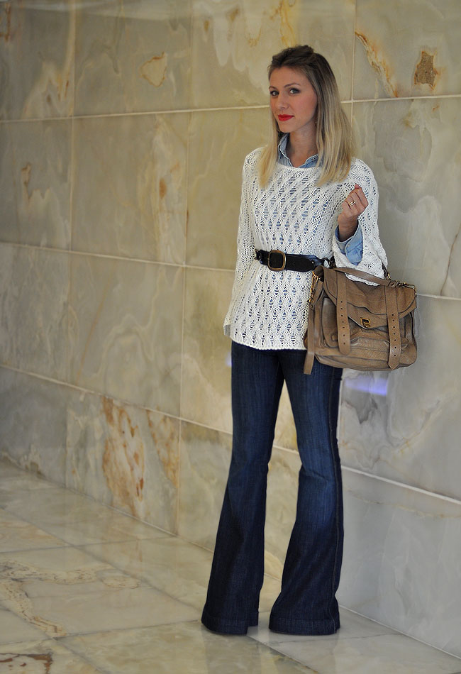 GLAM4YOU - BLOG - NATI VOZZA - LOOK - LOOK SPFW - TRICOT - JEANS FLARE - JEANS - PS1