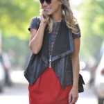 Meu Look: Red Skirt