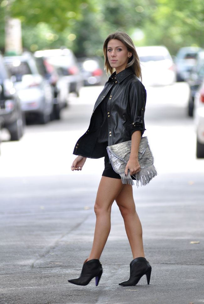 MIEZKO - nati vozza - blog - look - glam4you - macaquinho - camisa couro - bynv - leather - boots - fringe