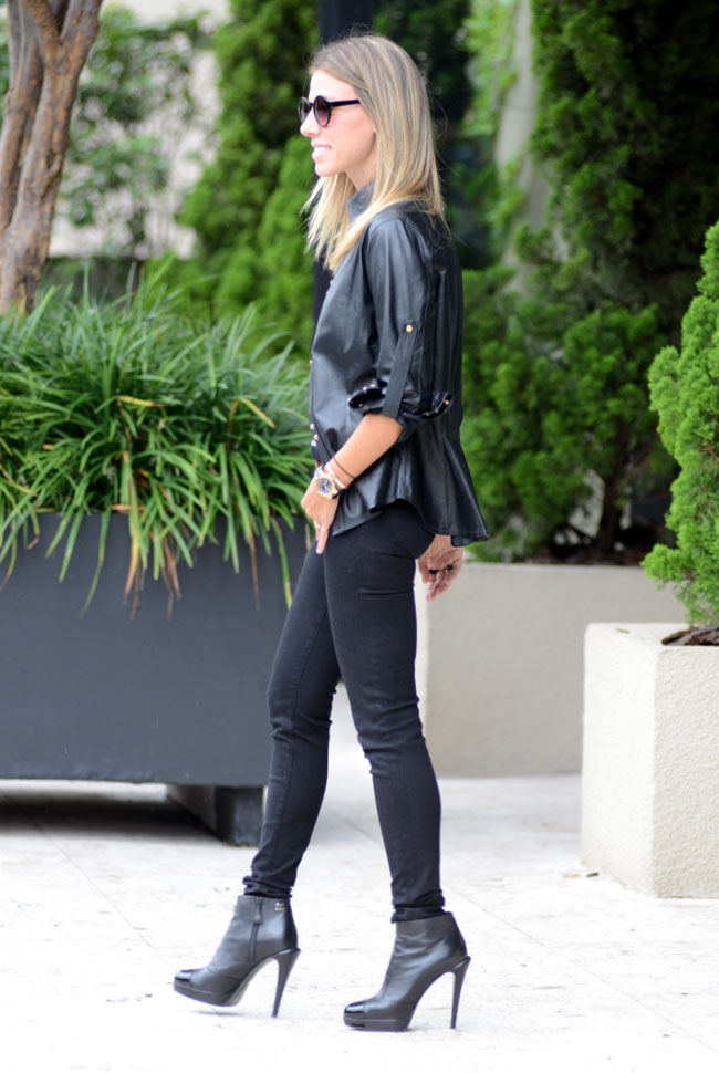 glam4you - nati vozza - blog - look - camisa - couro - bynv - showroom - listra - boot - chanel