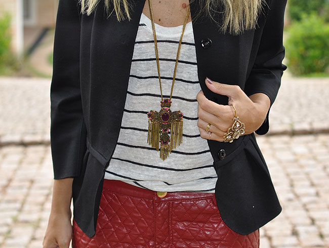 glam4you - nati vozza - short - couro - street style - outfit of the day - navy