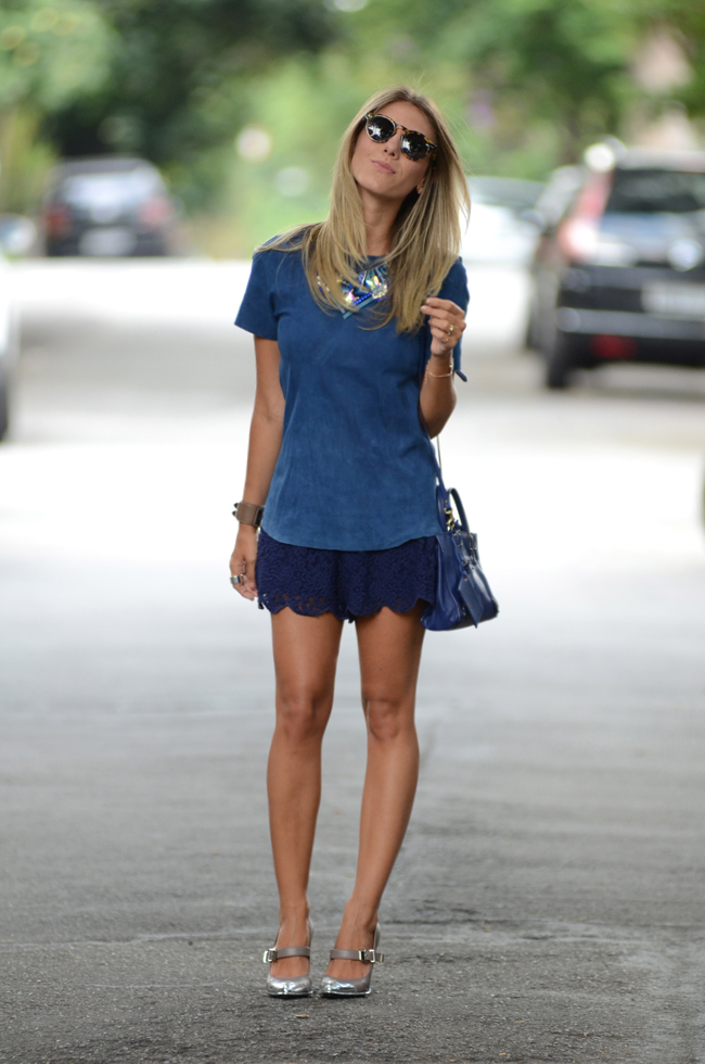 glam4you - nati vozza - blog - look - blue - summer - short - couro - miezko -