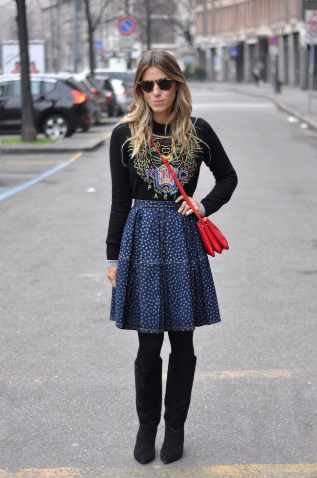 glam4you - nati vozza - blog - look - midi - gode - red valentino - mixed - milano - milan - milao - look - winter