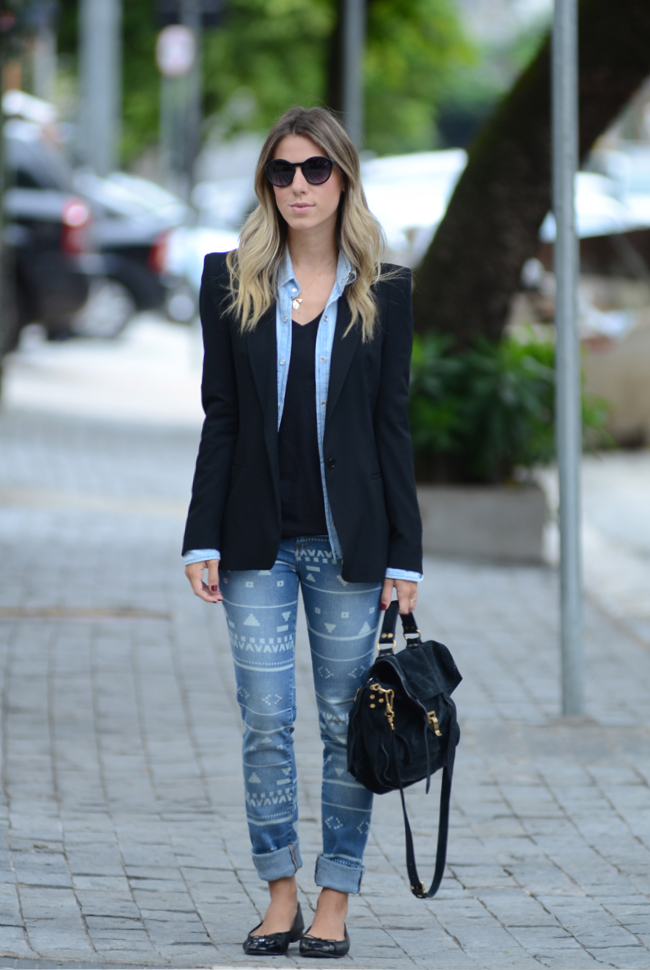 glam4you - nati vozza - look - calca - jeans - blazer  - etnico