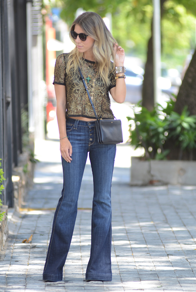 glam4you - nati vozza - blog - pat pats - gallerist - blog - look - flare jeans - cropped - celine trio