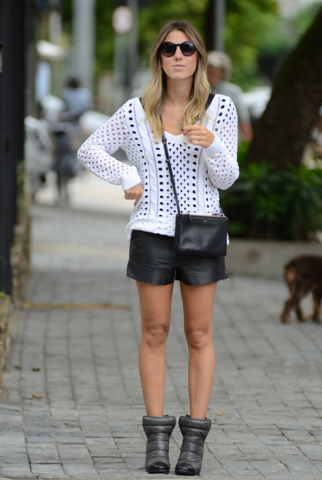 glam4you - nati vozza - tricot - short - couro - bynv - look - blog - chanel - boots