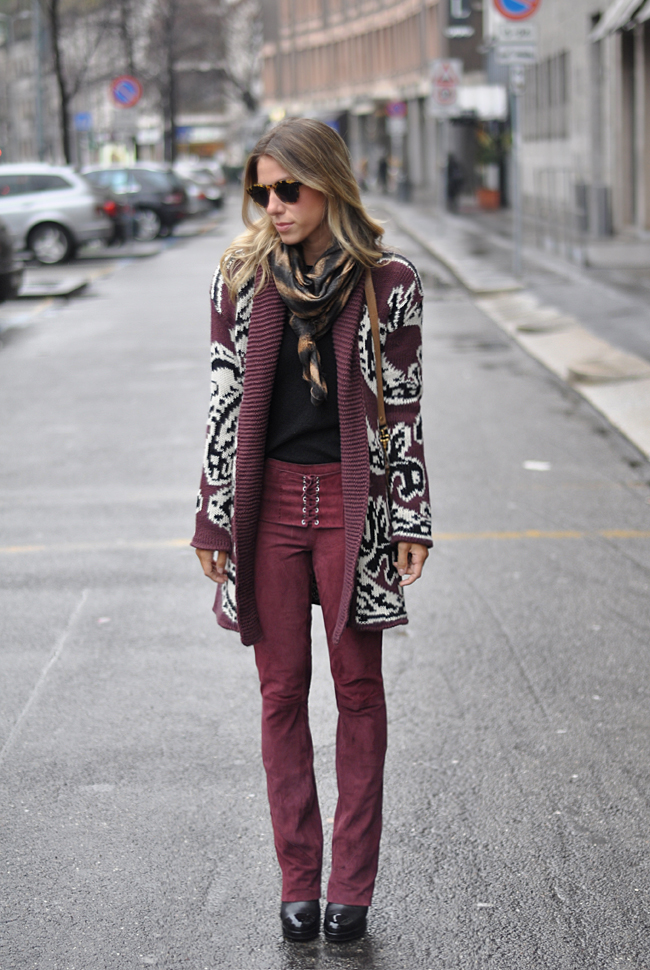 glam4you - nati vozza - milao - bynv - calca - chamois - bordo - bungundy - winter - look - inverno