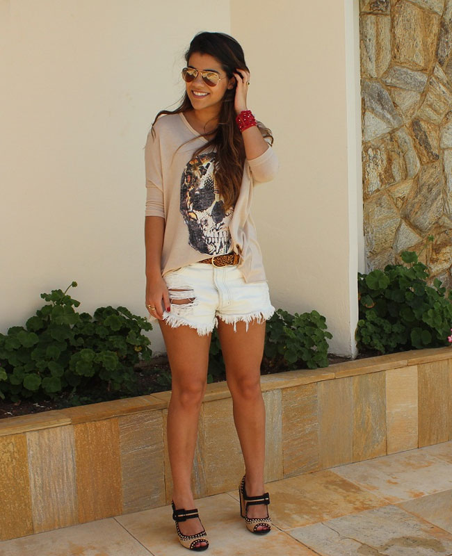 look leitora - glam4you - nati vozza - blog - look - short - jeans
