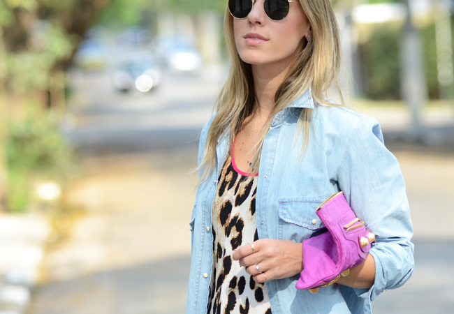 Glam4You por Nati Vozza | Meu look: Onça, Pink & Jeans