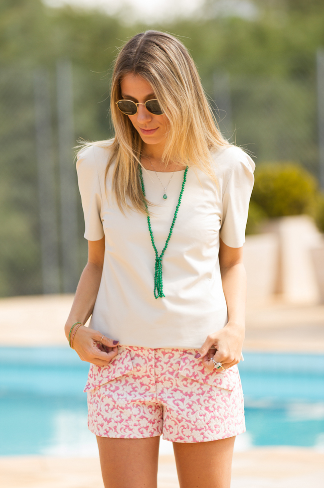Glam4You por Nati Vozza | Meu look: Meu Look: Rosa, Branco e Verde