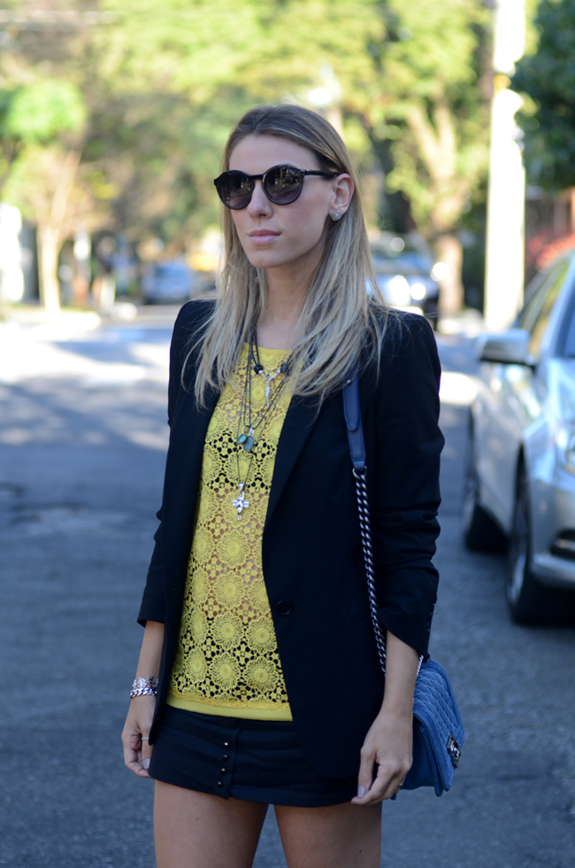 Glam4You por Nati Vozza | Meu look: Amarelo e Preto