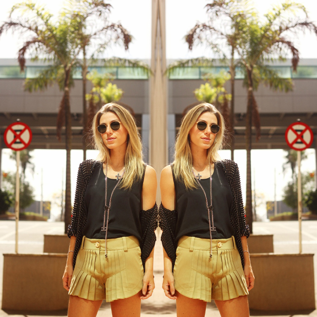 Glam4You por Nati Vozza | Meu look: Caqui & Preto