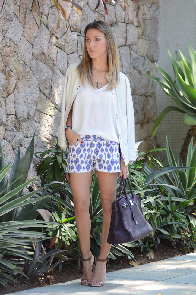 Glam4You por Nati Vozza | Meu look: Branco e Azul