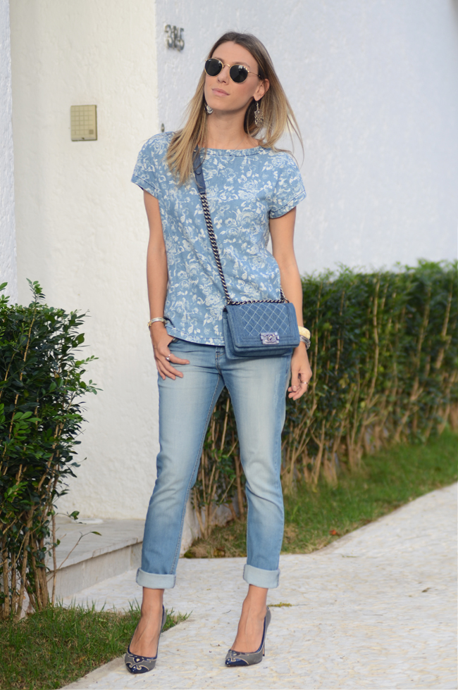Glam4You | Nati Vozza | Meu Look: Denim on Denim