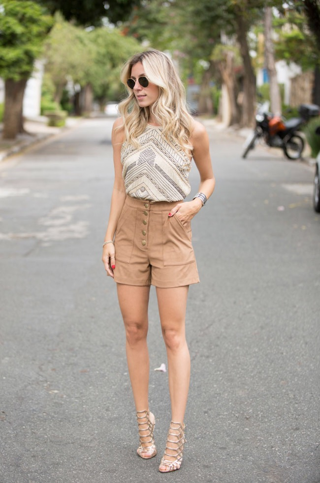 look-short-cintura-alta