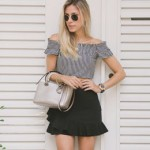 LOOK DO DIA CROPPED PRETO E BRANCO