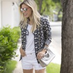 LOOK DO DIA BLAZER E SHORT JEANS