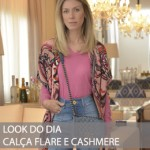 LOOK DO DIA CALÇA FLARE E CASHMERE