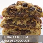 RECEITA DE COOKIE COM GOTAS DE CHOCOLATE