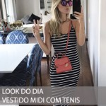LOOK DO DIA VESTIDO MIDI COM TENIS