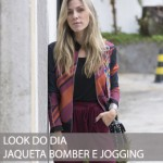 LOOK DO DIA JAQUETA BOMBER E JOGGING