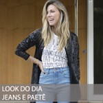 LOOK DO DIA JEANS E PAETÊ