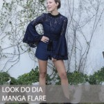 LOOK DO DIA MANGA FLARE E RENDA