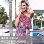 LOOK DO DIA COM MIX DE ESTAMPAS